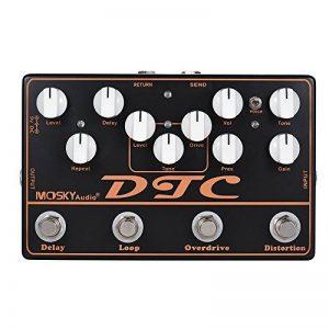 ammoon 4-in-1 Distorsion pédale d'effet guitare électrique + Overdrive + Loop + Delay MOSKY DTC de la marque ammoon image 0 produit