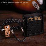 ammoon Mini Amplificateur pour Guitare Basse Ukulele Alimenté par Batterie Haute Sensibilité 3 Watt 9 volts avec La Fonction Overdrive de Contrôle de Tonalité de Volume Noir de la marque ammoon image 4 produit
