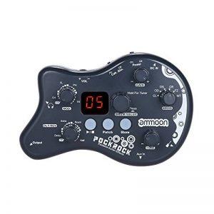 ammoon Pédale Multi-effets pour Guitare Pédale d'effet Portable PockRock 15 Types d'effet 40 Rythmes de Batterie avec Adaptateur Secteur de la marque ammoon image 0 produit