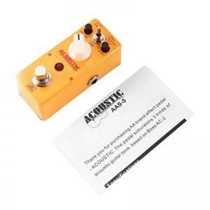 AROMA AAS-5 simulateur de guitare acoustique pédale d'effet 3 modes corps en alliage d'aluminium avec parties de Bypass True Guitar & Accessories - Jaune de la marque Oyamihin image 0 produit