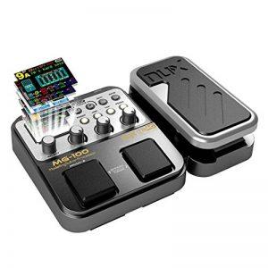 Asmuse MG-100 Multi Effets Pédale Guitare Processeur de Musique Pièces 40s Enregistrement 58 Types de Tambours 55 Effet Mode 10 Son Di Boîte Guitare Électrique Boucle Tube Pédale (EU Plug) de la marque Asmuse image 0 produit