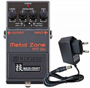 Boss MT-2w Pédale de distorsion Metal Zone Waza Edition avec bloc d'alimentation Keepdrum 9 V de la marque Hugo Boss image 0 produit