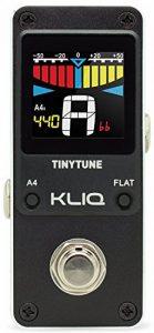 KLIQ Music Gear Accorder la pédale d'accordeur pour guitare et basse - Chromatique - (Alimentation requise) Noir de la marque KLIQ Music Gear image 0 produit