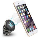 TechElec Support Téléphone Voiture Magnétique 360 Degrés Rotation Universel pour iPhone X, 8, 8 plus, 7, 7 Plus, 6, 6S, 5s, Galaxy S9, S8, s7, HUAWEI et d'Autres Smartphones, GPS, Tablette (Noir) de la marque TechElec image 1 produit
